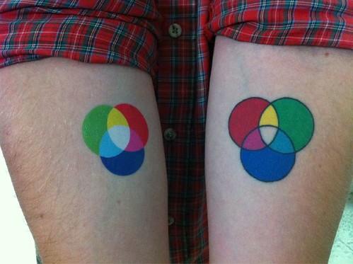 DeviantArt: More Like CMYK | RGB TATTOO by numonik