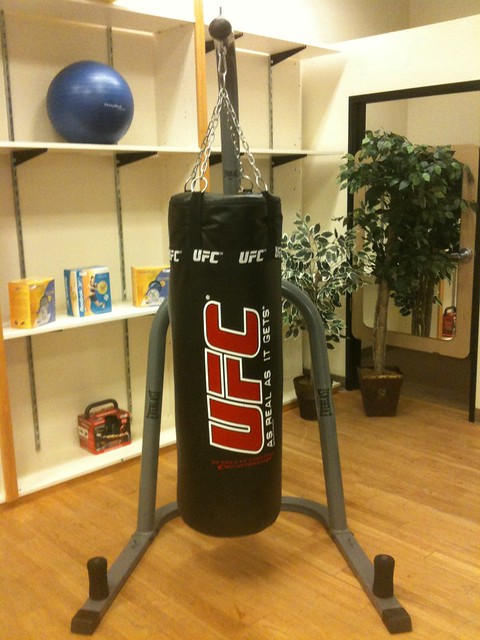 ufc heavy punching bag w stand flickr photo