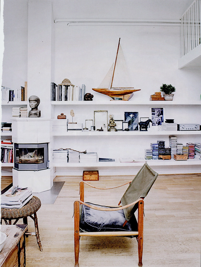 elle decor white rustic vintage modern living room flickr