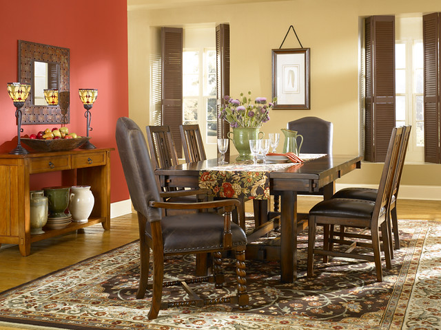 Arts and crafts dining room flickr photo sharing for Arts and crafts dining room set