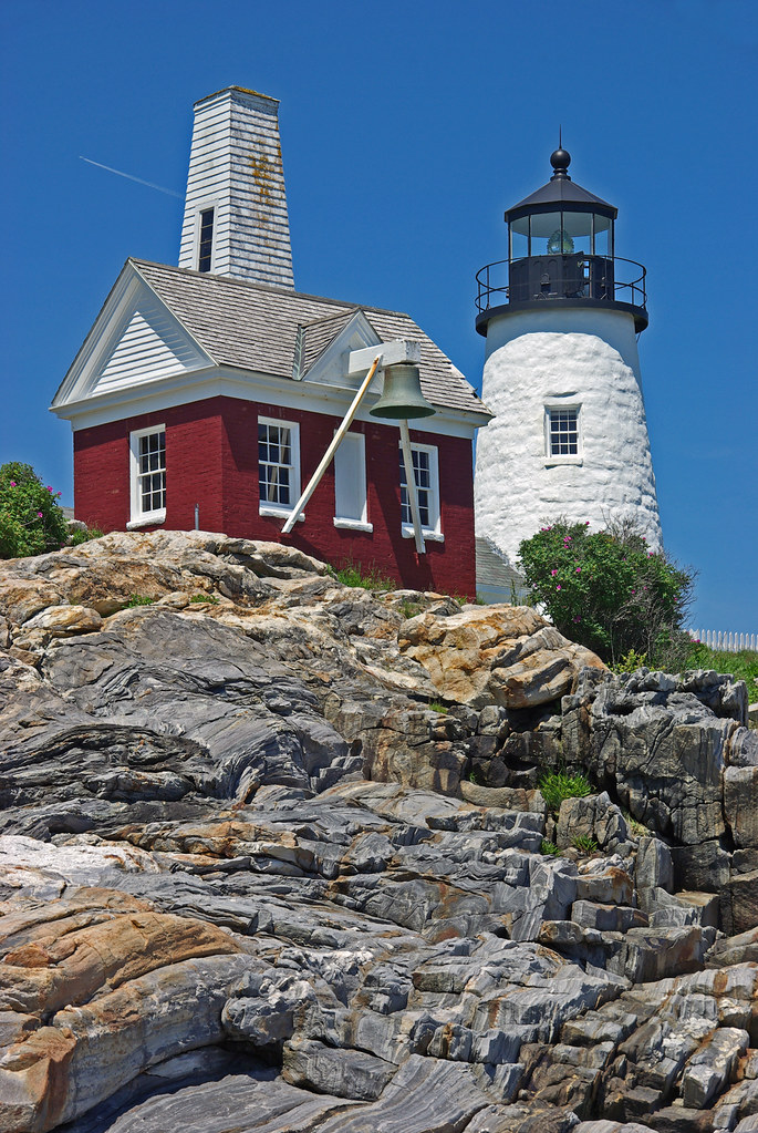 Pemaquid Point Lighthouse And Bell Tower 2011 Pemaquid