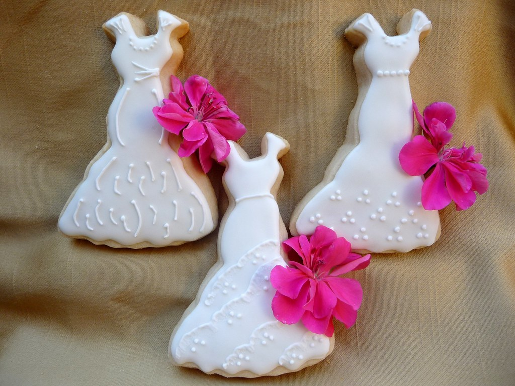 Free wedding dress images - Wedding Dress Cookies Cookies Made For A Bridal Shower Th