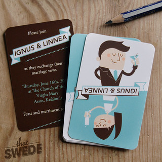Creative Wedding Invitations | by ThatSwede // Linnea Ferreira