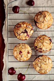 Cherry Almond Muffins | by pastryaffair