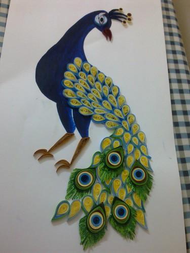 Quilled peacock | Ruvini De Silva. Sri Lanka. ruvinise ...