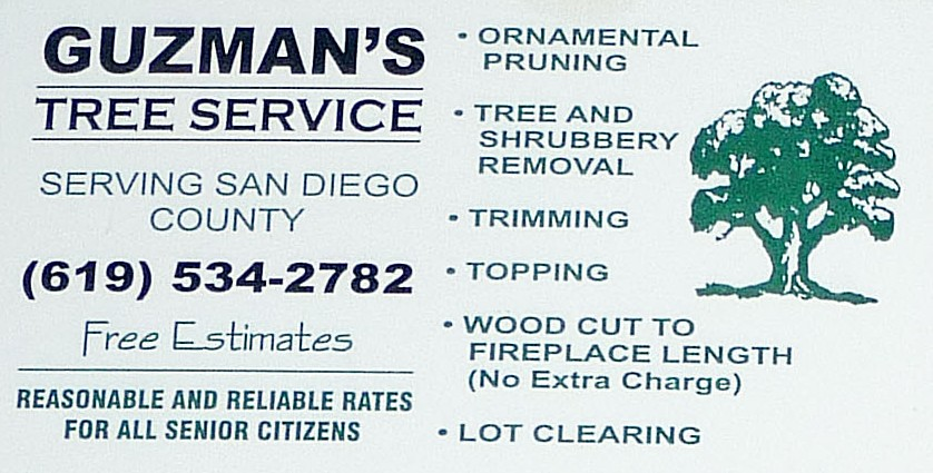 guzmans tree service business card by photo nut 2011 - Tree Service Business Cards