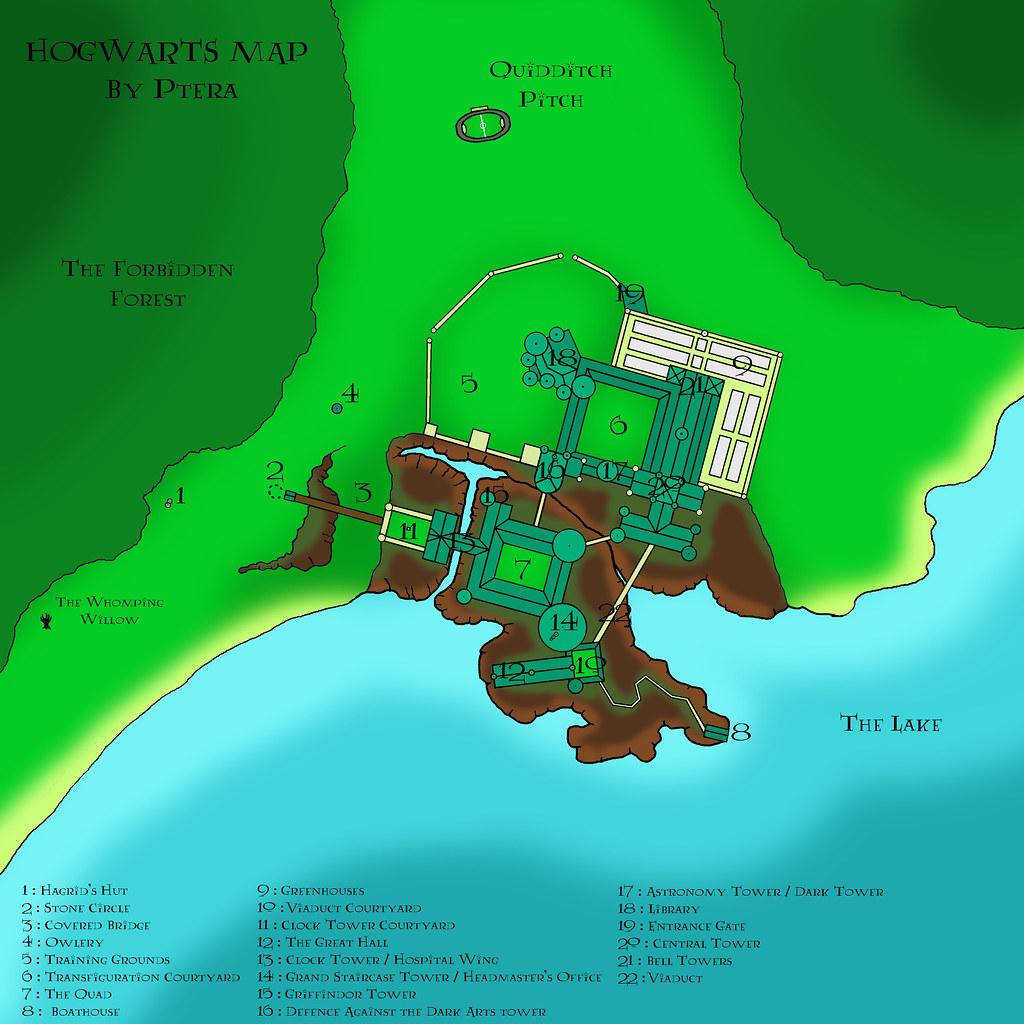 Hogwarts Map | Improved version of my map : ) | Ptéra | Flickr Hogwarts