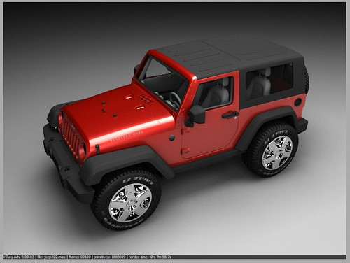 Jeep Rubicon Red - VRAY Render | by bloggerknight