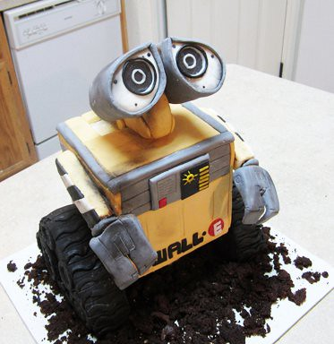 Wall E Cake Wall E Is A Six Inch Square Of Vanilla Cake