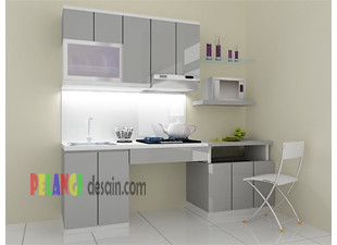 Kitchen Set Abu Abu Pelangidesain Flickr