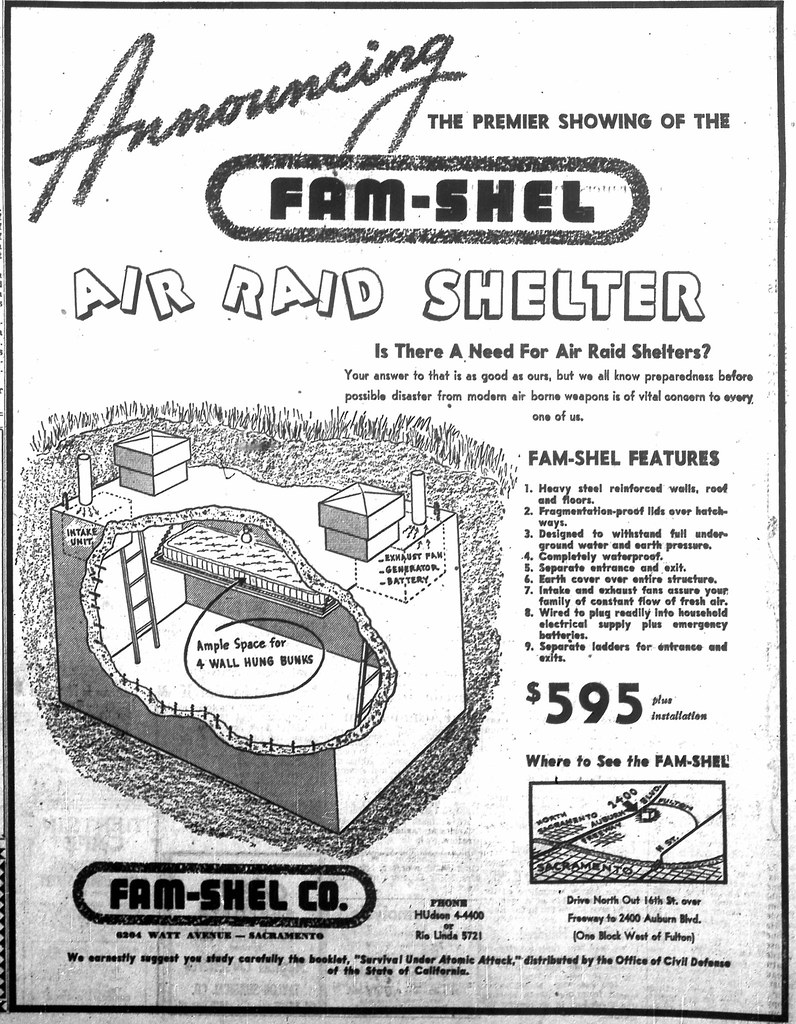 February 24, 1951: Fam-Shel Air Raid Shelter Ad in the Sac…   Flickr