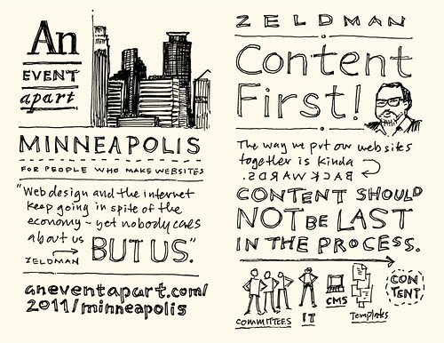 AEA Minneapolis Sketchnotes: Jeffrey Zeldman - 01-02 | by Mike Rohde