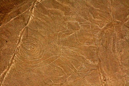 Drawing monkey's in the sand – Nazca lines, Peru | by kees straver (will be back online soon friends)