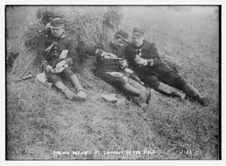 French Officers at luncheon in the field  (LOC) | by The Library of Congress
