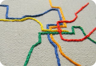 DC Metro Map Embroidery Wall Decor | by Hey Paul Studios