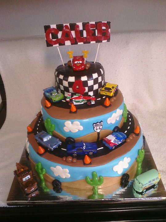 Cars 2 Birthday Cake Stephanie Dedrick Flickr