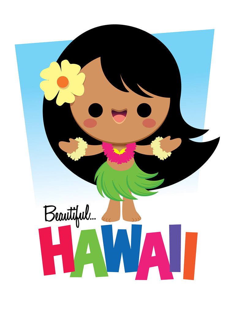 kawaii hula girl another character in the hawaii series hula girl clip art cricut cartridge hula girl clip art animated