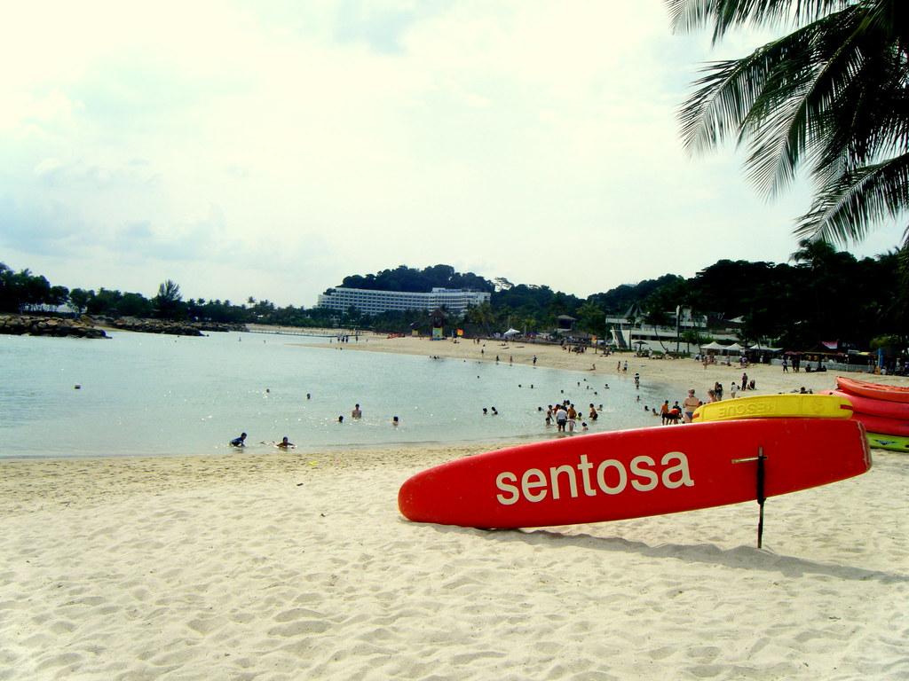 Sentosa Beach; Sentosa, Singapore