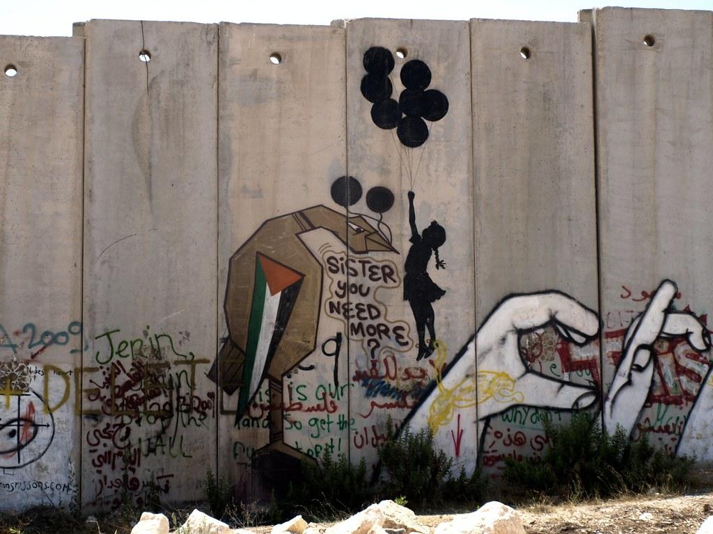 banksy graffiti in ramallah