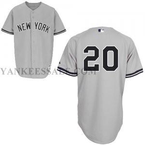 ... New York Yankees  20 Jorge Posada Authentic Grey Road Man MLB Jersey  2ac80e85459