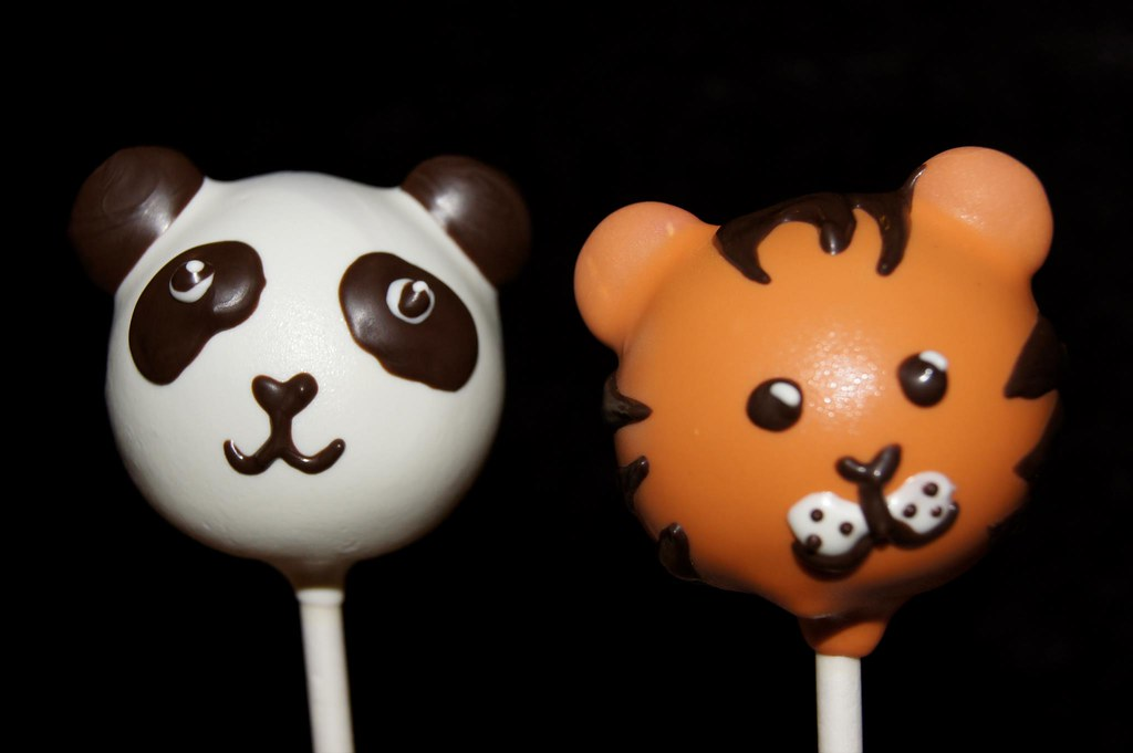 Panda And Tiger Cake Pops These Were Made As A Request