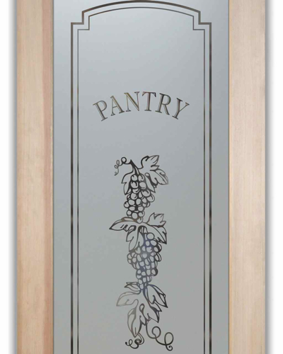 Pantry Doors Glass Etched Frosted Grapes Strand Flickr