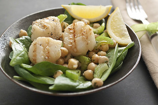 grilled scallops with lemon chickpea salad_0015 120 dpi | by TheCookingPhotographer