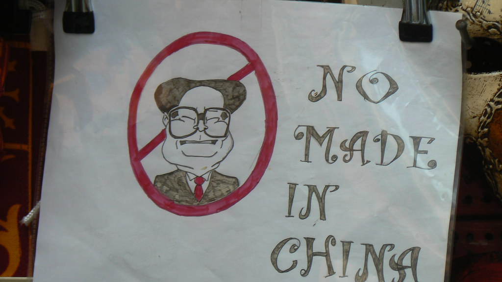 no made in china the image of a chinese in a shop in. Black Bedroom Furniture Sets. Home Design Ideas