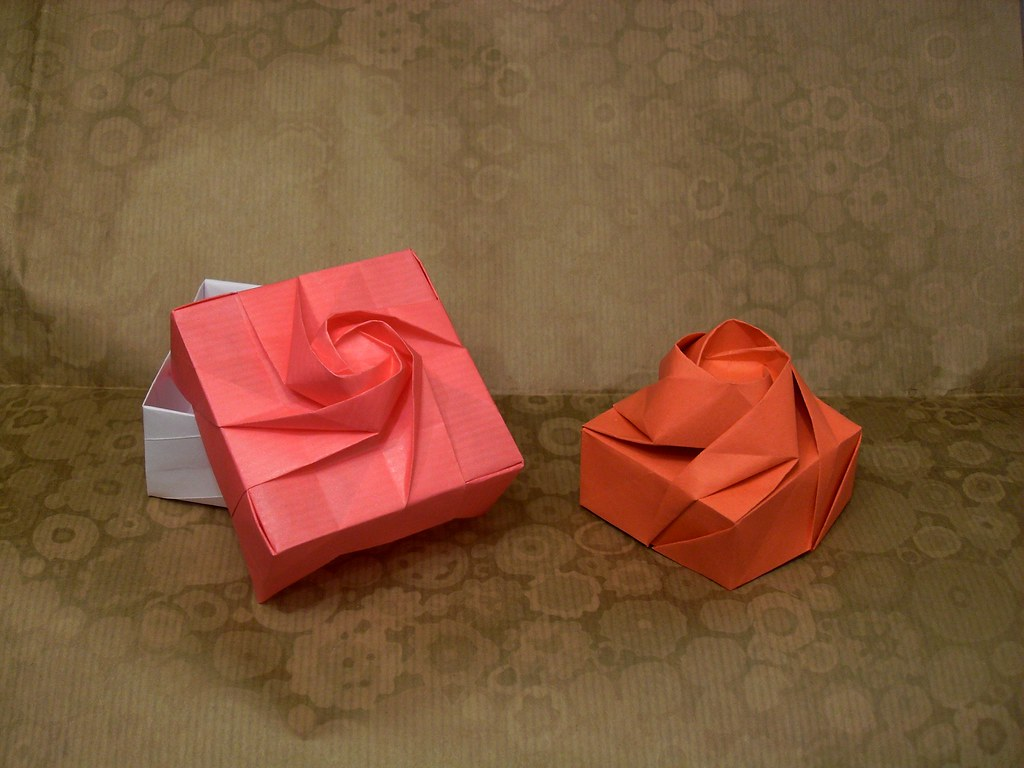 Rose boxes designed by shin han gyo folded by me from 2 u flickr rose boxes by orestigami mightylinksfo