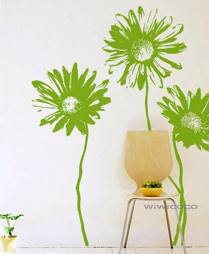 sunflower wall decals | by wiwicoco