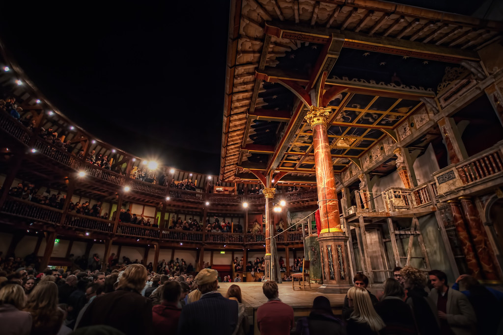 process of building the globe theater