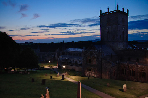 St Davids Cathedral at dusk | by Chris Bertram