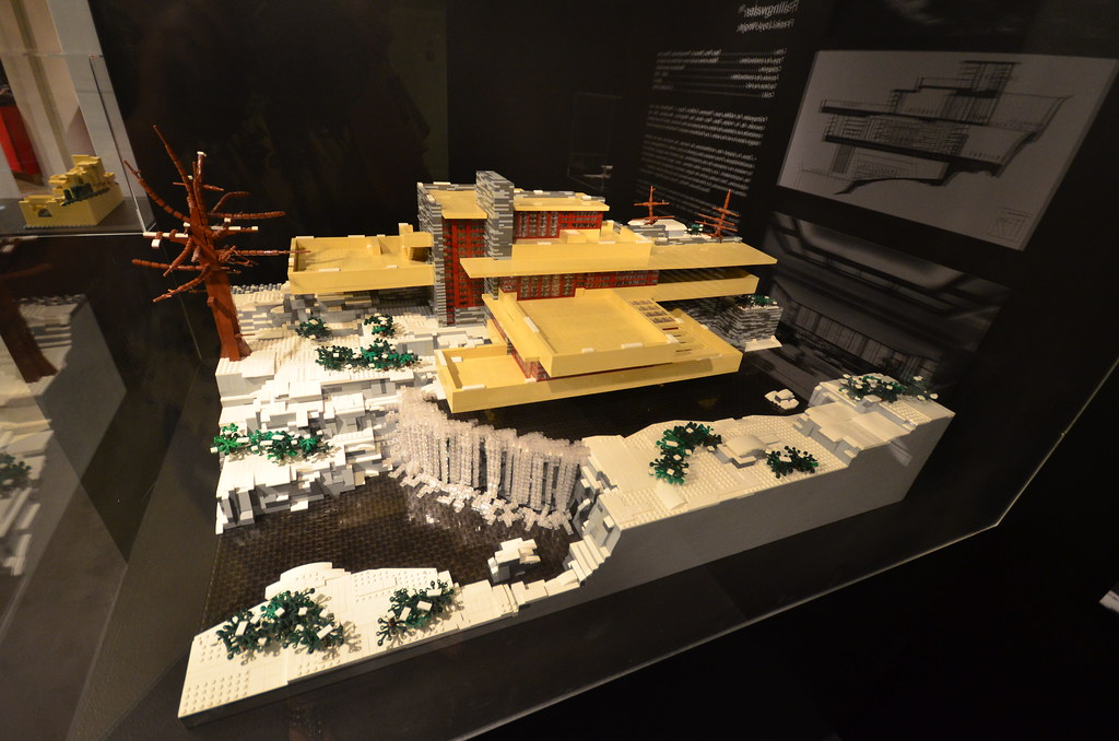 Lego frank lloyd wright 39 s falling water karen blumberg flickr - Falling waters lego ...