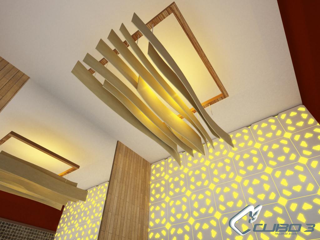 Dise o de iluminacion dise o para spa cubo3 dise o de for R b salon coimbatore