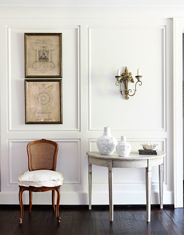 Classic White Foyer Benjamin Moore China White Swedis