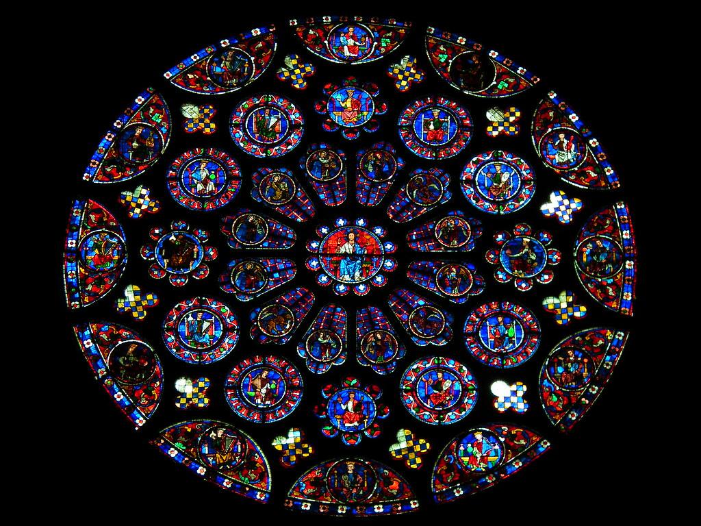 Rosace De La Cathedrale De Chartres