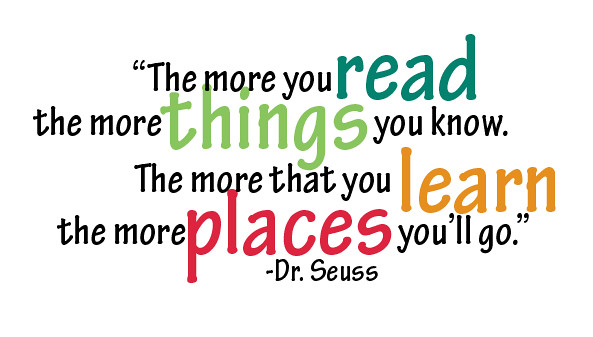 Reading Quotes: Dr. Seuss Reading Quote