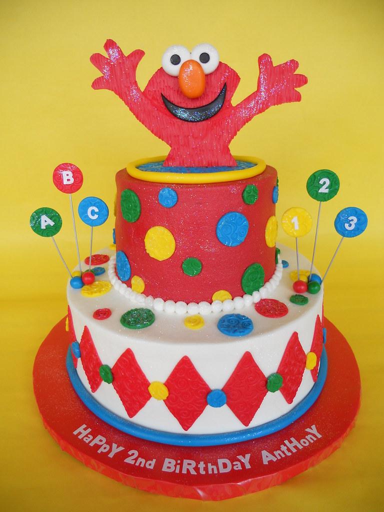 Surprise Elmo 2nd Birthday Cake Amy Stella Flickr