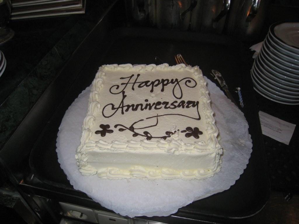 Prinsendam Happy One Year Wedding Anniversary Cake For Ste Flickr