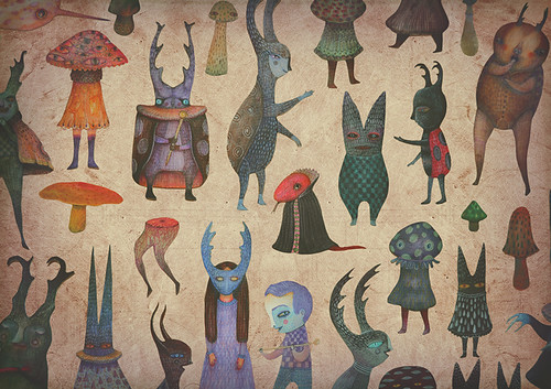 """The Cursed Forest"" characters/paper dolls 