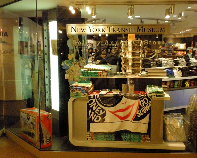 New york transit museum gallery annex and store at grand for Ny transit museum store