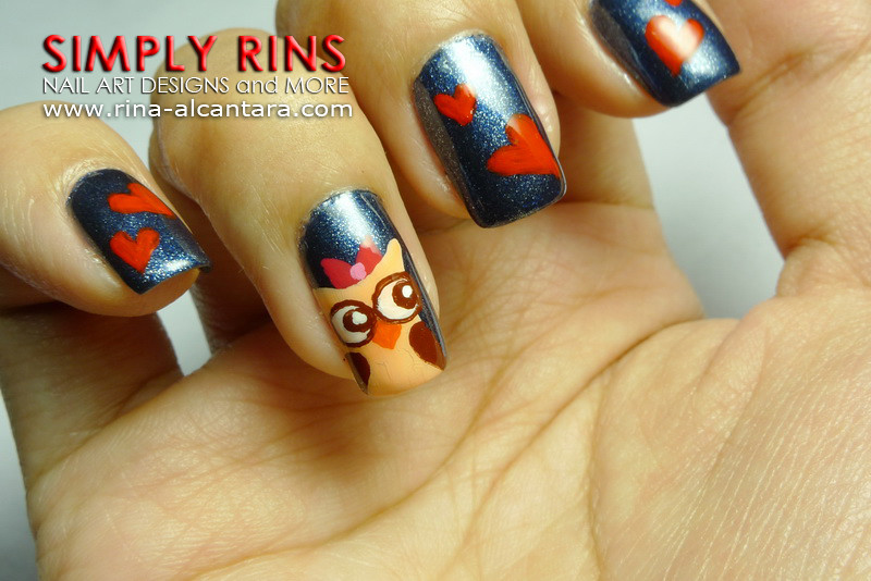 Nail Art Owls In Love 04   www.rina-alcantara.com/2011/08/na…   Flickr