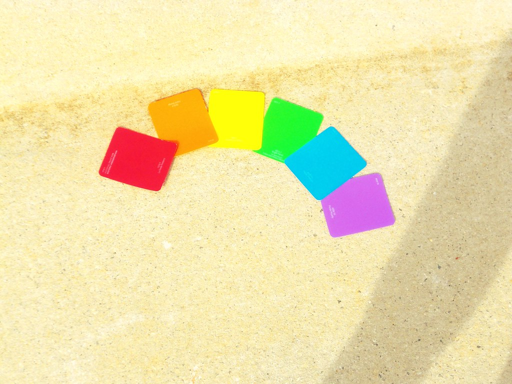Gay Pride Symbol By Using Home Depot Paint Sample Papers Flickr