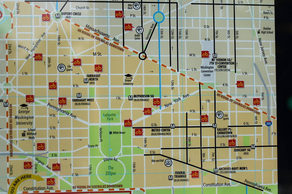 Capital Bikeshare Map | Detail of the map on the Capital Bik… | Flickr