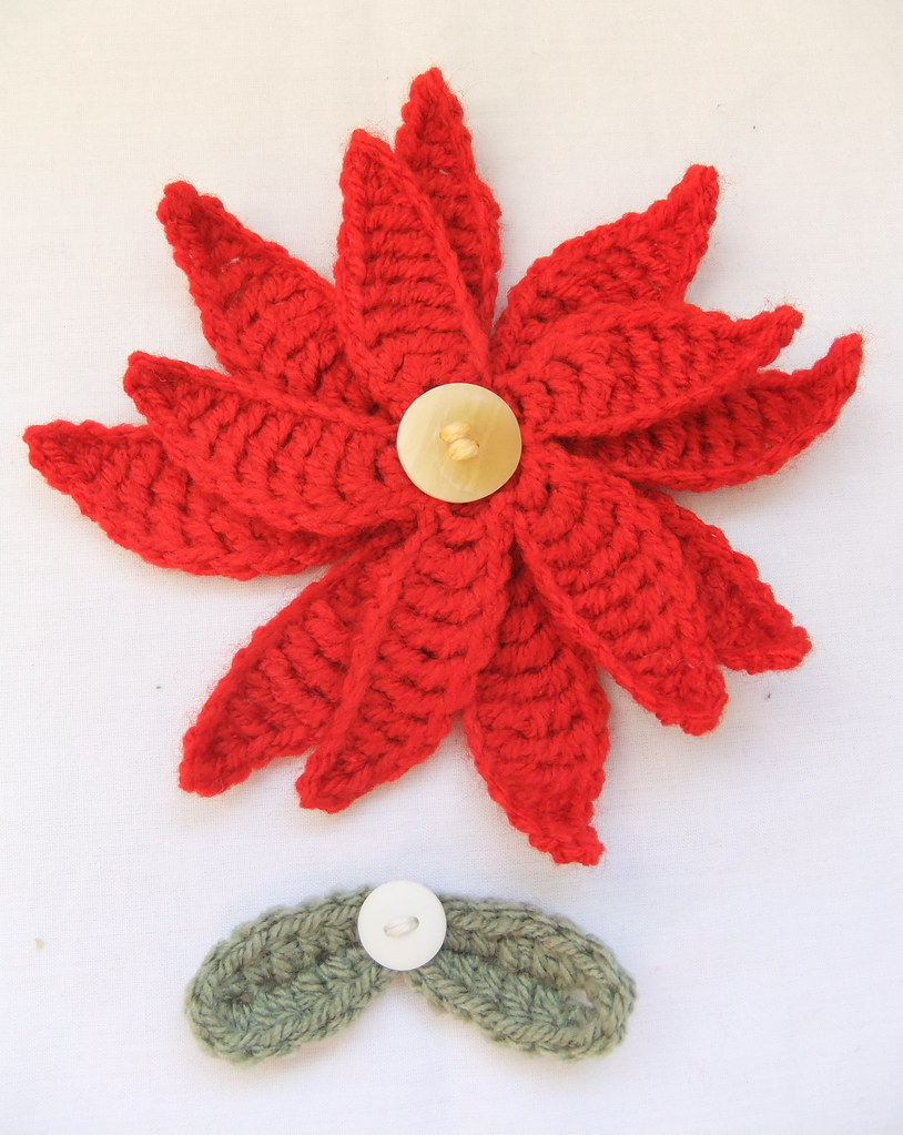 Poinsettia And Mistletoe Crochet Pattern I This Is My Ow Flickr