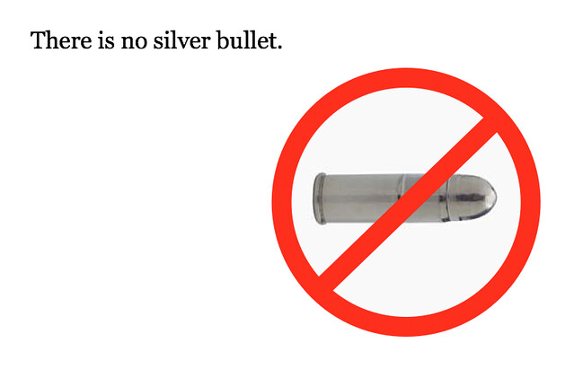 no silver bullet essence and accidents More than 20 years ago fred brooks published a seminal essay on the nature of software, called no silver bullet: essence and accidents of software engineering if you've never read it i'd highly encourage it, as even though it's ancient by the standards of our industry, it's still amazingly relevant and gets to the heart [.