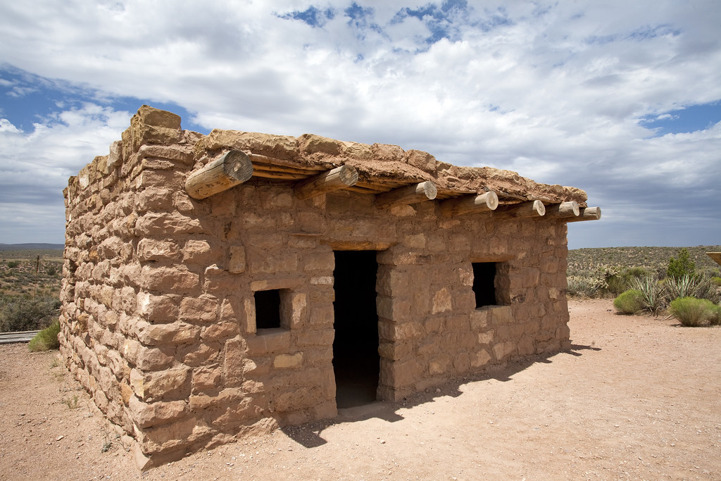 hopi indian house eagle point west rim of the grand cany
