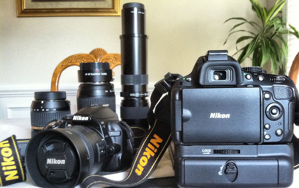 added a battery grip to my nikon d5100 rear view iphone. Black Bedroom Furniture Sets. Home Design Ideas