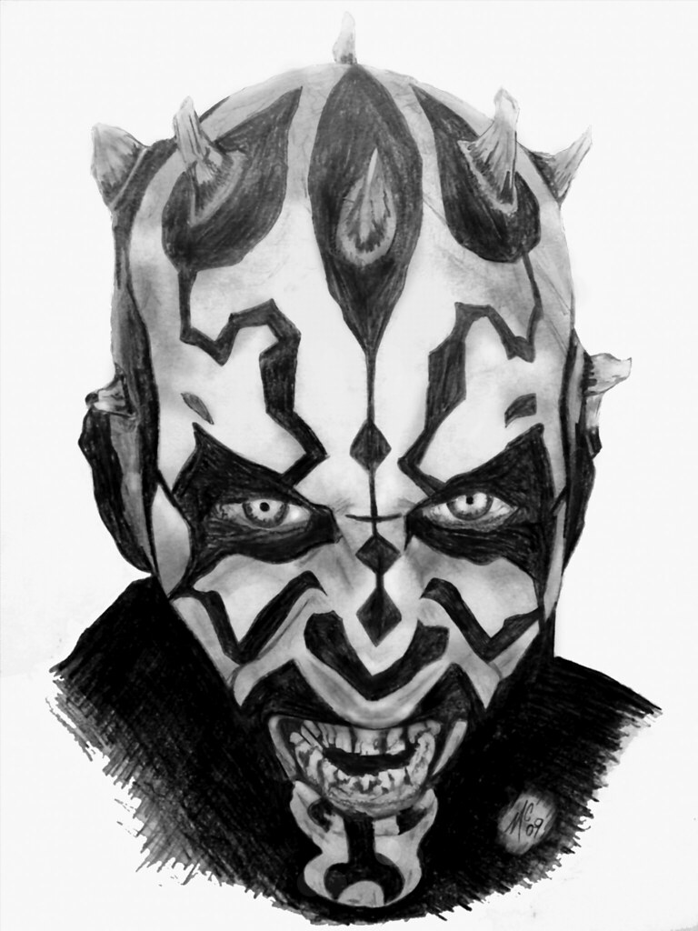 Darth Maul Pencil Portrait | I done this in about 2 hours ...