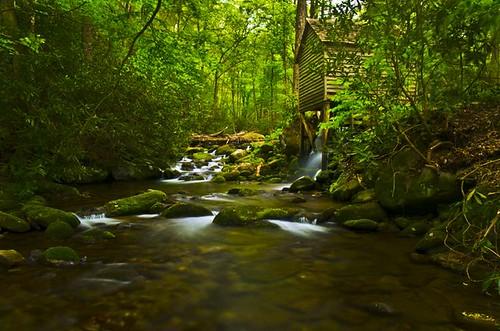Reagan mill at roaring fork great smoky mountain np flickr for Roaring fork smoky mountains